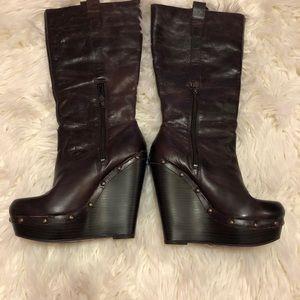 31b5c9f6411 Jessica Simpson Shoes - Jessica Simpson dark chocolate wedge boots